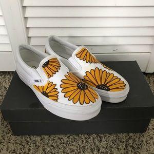Customized Sunflower Vans